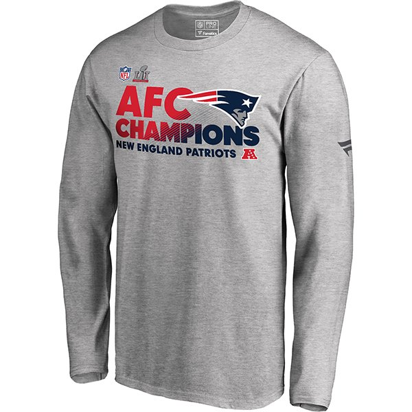 2016 AFC Champions Locker Room Long Sleeve Tee-Gray