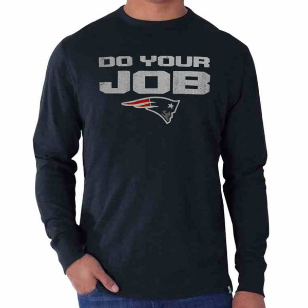 '47 Brand Do Your Job Long Sleeve Tee-Navy