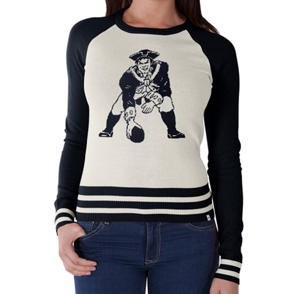 Ladies '47 Brand Pass Block Throwback Sweater