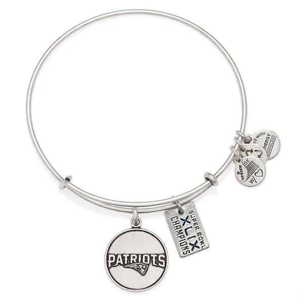 Alex and Ani Super Bowl XLIX Bangle-Rafaelian Silver Finish