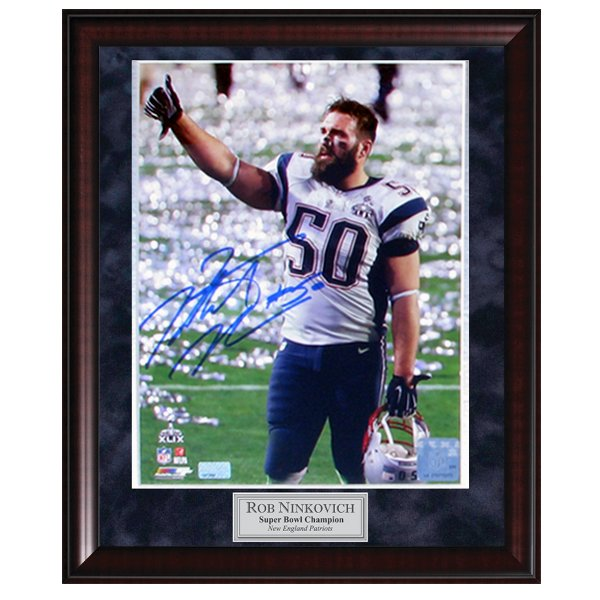Autographed Ninkovich Super Bowl XLIX Framed Photo