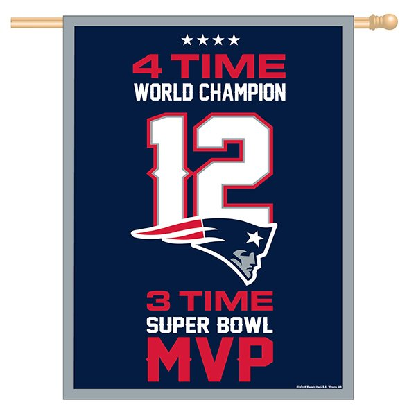 Tom Brady Vertical Flag