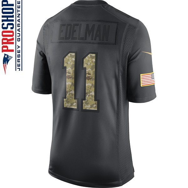 Nike 2016 Julian Edelman Salute To Service Limited Jersey-Charcoal