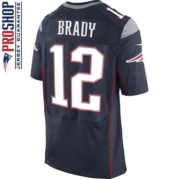 Nike Elite Tom Brady #12 Jersey-Navy