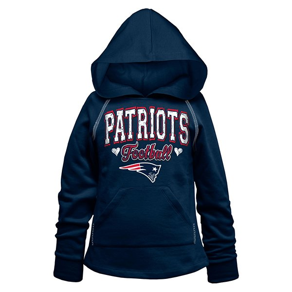 Girls 5th Pullover Hood-Navy