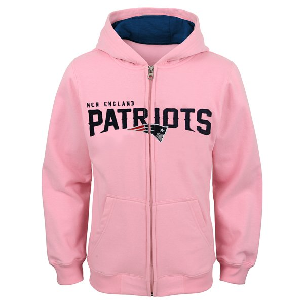 Girls Stated Full Zip Hood-Pink