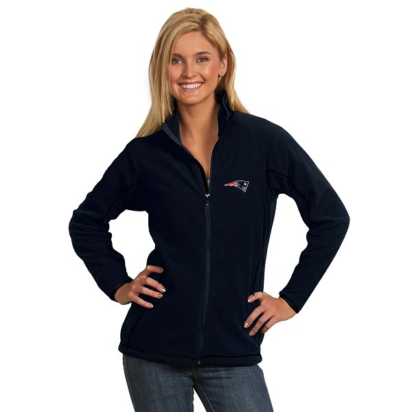 Ladies Antigua Ice Full Zip Jacket-Navy