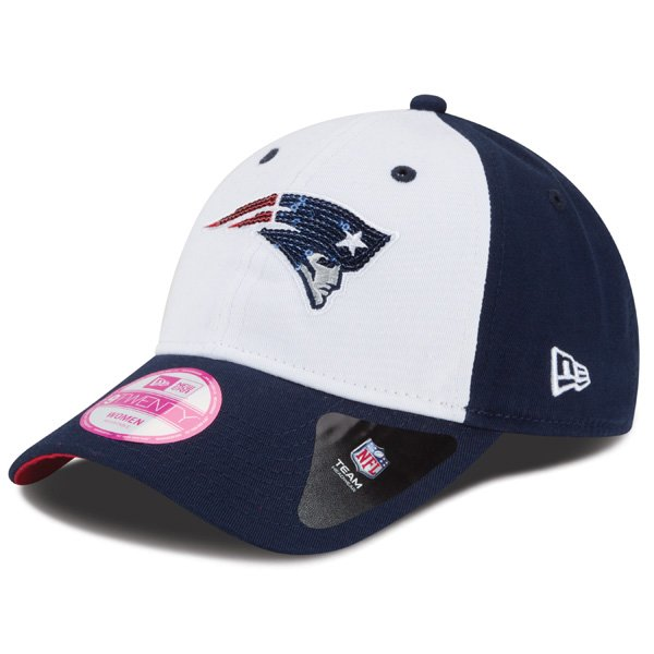 Ladies New Era Glimmer Cap-White/Navy