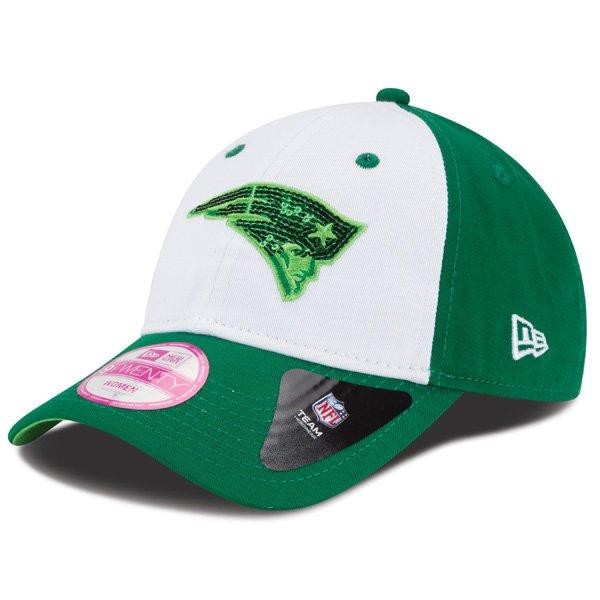 Ladies New Era St. Patrick Glimmer Cap-White/Green