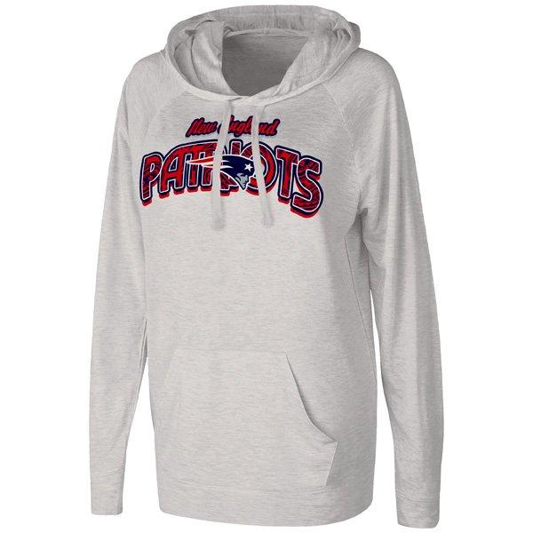 Ladies Patriots Pregame Hood-Gray