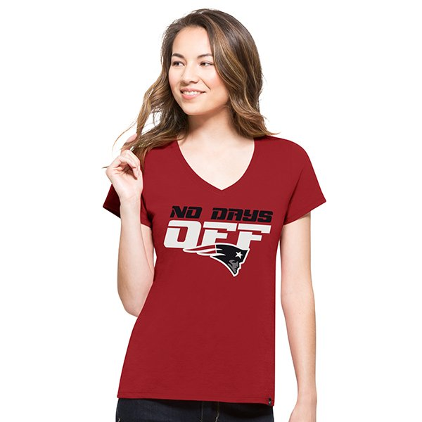 Ladies 47 NoDaysOff Tee-Red