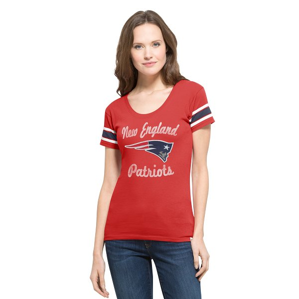 Ladies Off Campus Scoop Tee-Red