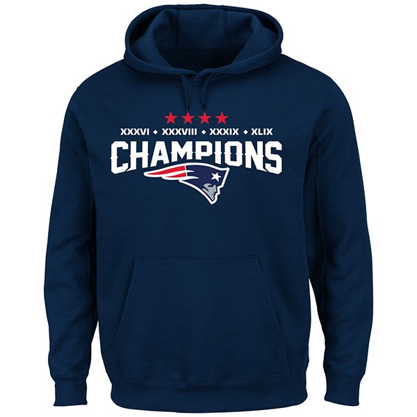 Majestic 4 Time Champions Hood-Navy