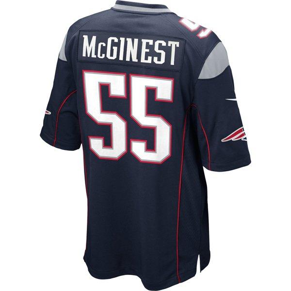 Nike Willie McGinest #55 Game Jersey-Navy