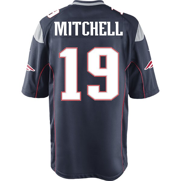 Nike Malcolm Mitchell #19 Game Jersey-Navy