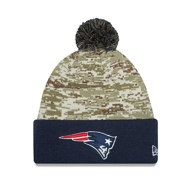 New Era 2015 Salute to Service Knit Hat-Navy/Camo