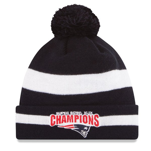 Super Bowl XLIXL Champs Knit Hat-Navy/White by New Era