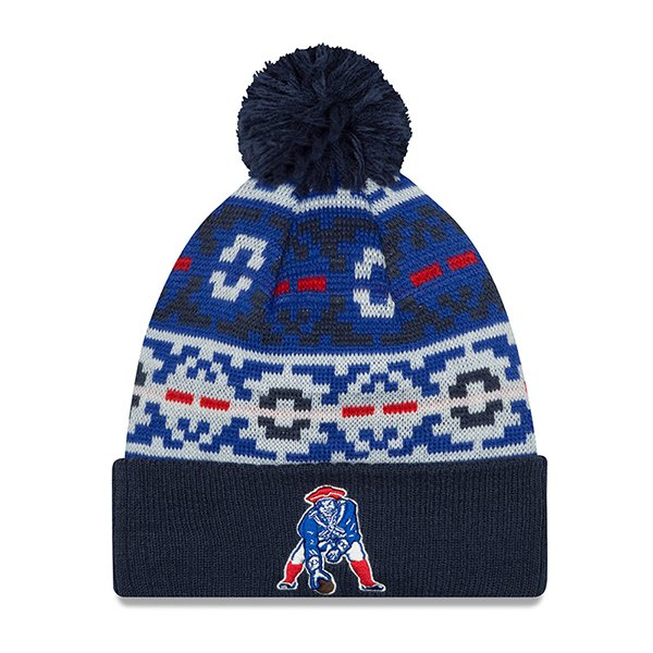 New Era Throwback Retro Chill Pom Knit-Navy
