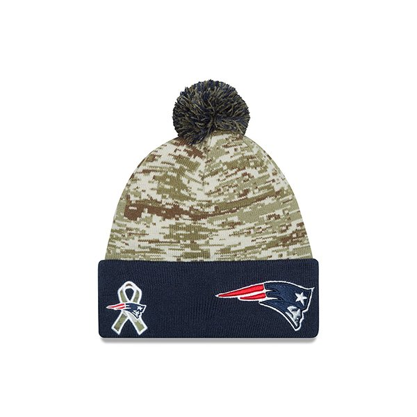Youth New Era 2015 Salute to Service Knit Hat-Navy/Camo