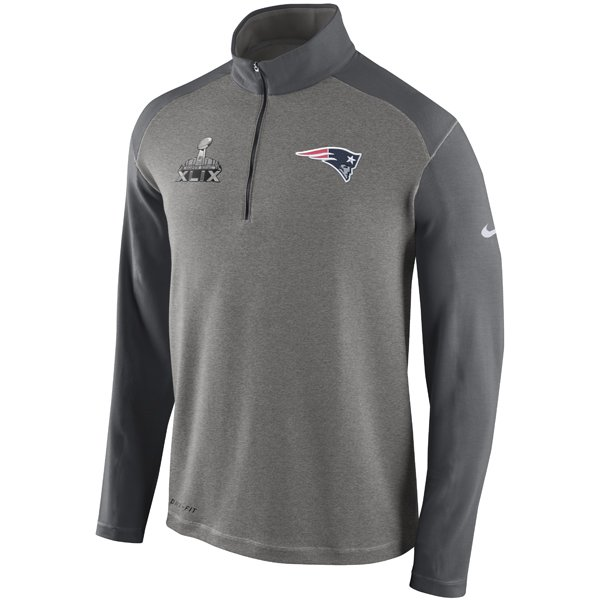 Nike Super Bowl XLIX 1/2 Zip Pullover-Gray