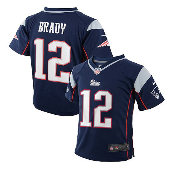 Preschool Nike Tom Brady Game Jersey-Navy
