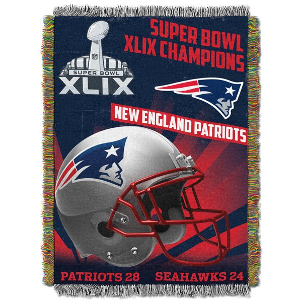 Super Bowl XLIX Champions 46x60 Tapestry Throw