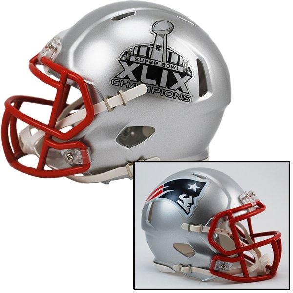 Super Bowl XLIX Champions Speed Mini Helmet