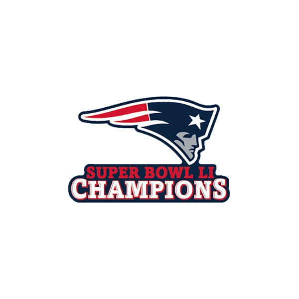 Super Bowl LI Champions 4x4 Decal