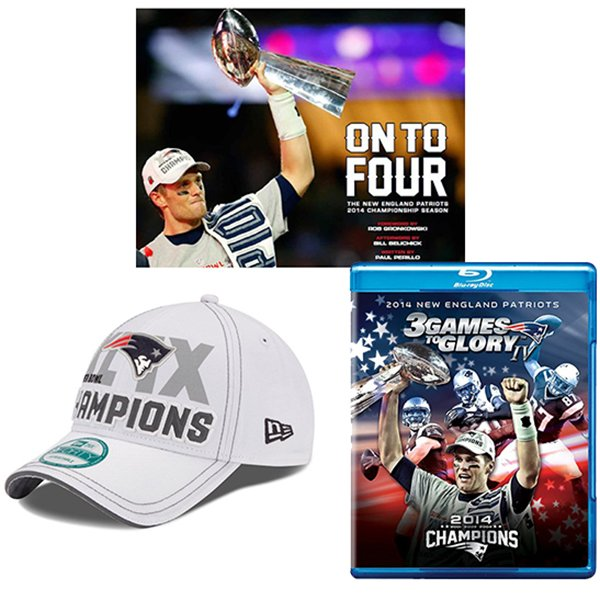 Super Bowl XLIX Bundle-Book/Cap/Blu-ray