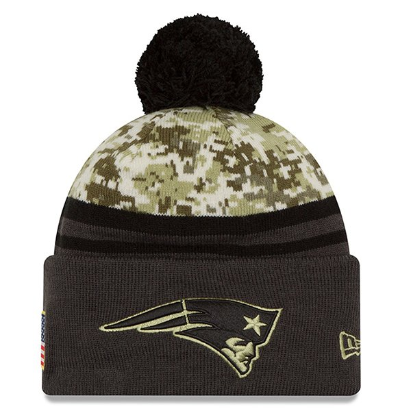 Youth 2016 Salute To Service Knit Hat-Charcoal/Camo