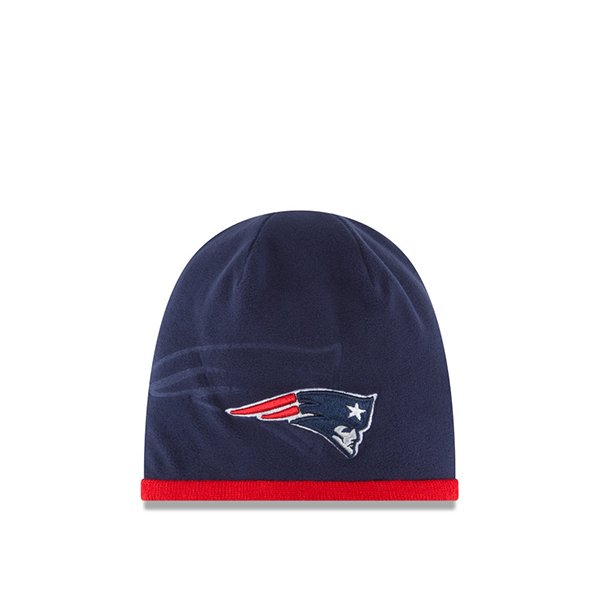 Youth New Era 2015 Tech Knit Hat-Navy/Red