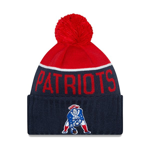 Youth New Era 2015 Throwback On Field Knit Hat-Navy/Red