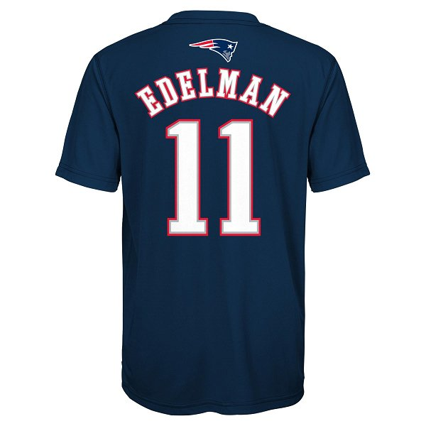 Youth Edelman Name & Number Performance Tee-Navy
