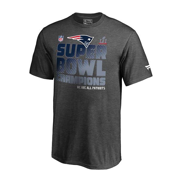Youth Super Bowl LI Champions Locker Room Tee-Charcoal